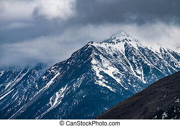 Western Sichuan, China, Snow Mountain Cloud Falls