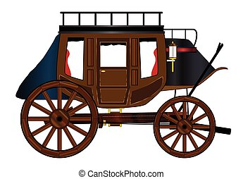 Western Stage Coach - A typical estern stage coach drawing...