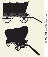 Western Stage Coach Wagon Vector