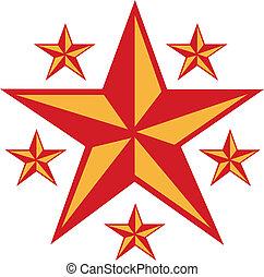 Western Star Border Tattoo Design