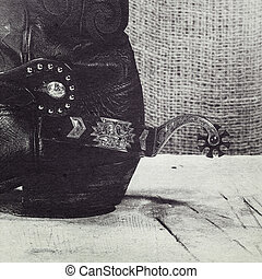 Western still life with added old cardboard texture for your design