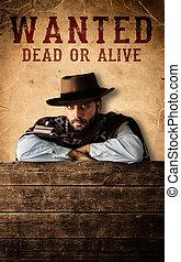 Western - Bad gunman in the old wild west
