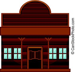 Western style building for shop