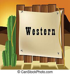 Western text frame