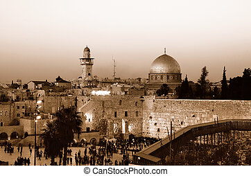 Western Wall and Dome of the Rock - The Western Wall, also ...