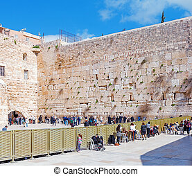 Western Wall, Jerusalem, Israel - Western Wall of Temple,...