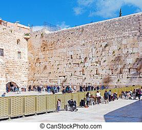 Western Wall, Jerusalem, Israel - Western Wall of Temple,...