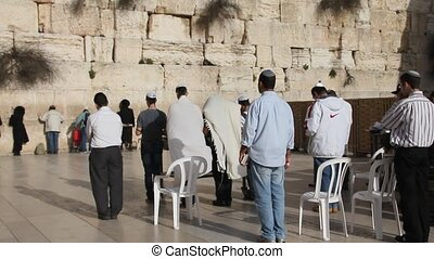 Western Wall. Jerusalem - Prayer at the holy Western Wall....
