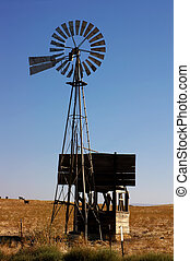 Ranch Windmill - Western Water Pumping Livestock Ranch...