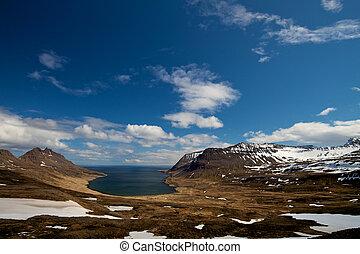 Westfjords fjord landscape