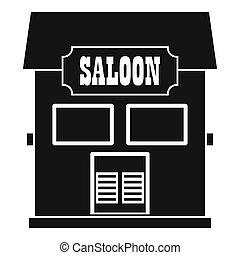 westlich, salon, ikone, einfache , stil