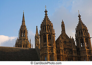 The buildings of the House of Parliament - sunset