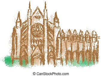 Westminster Abbey abstract silhouette - Westminster Abbey...