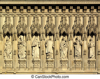 Westminster Abbey Frieze - Frieze of martyrs above the west...