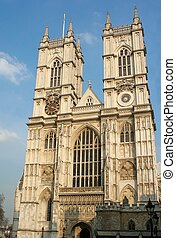 Westminster abbey in a sunny day