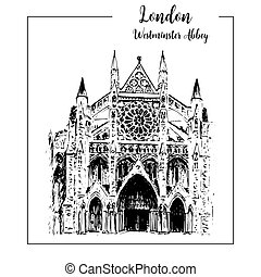 Westminster abbey, London architectural symbol. Beautiful...
