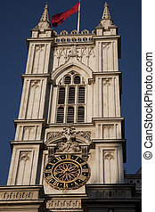 Westminster Abbey Tower; London, England, UK