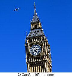 westminster, avión, el volar encima
