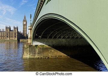 Westminster Bridge and Elizabeth Tower in London