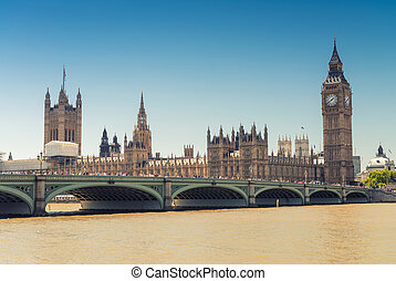 Westminster Bridge and Houses of Parliament, London