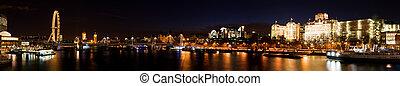 westminster, ciudad, crepúsculo