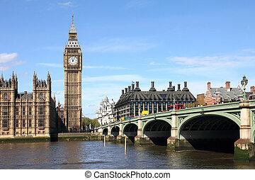 westminster, grand ben, pont, londres