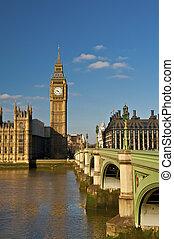 westminster, grand ben, pont
