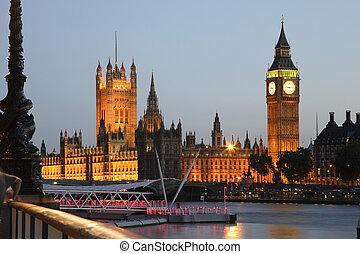 westminster, maisons, parlement, palais