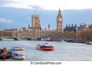 westminster most, ben, londyn, cielna