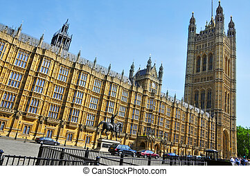 Victoria Tower in Westminster Palace in London, United Kingdom