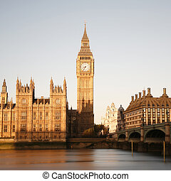 Westminster Palace - Palace of Westminster seen from South ...
