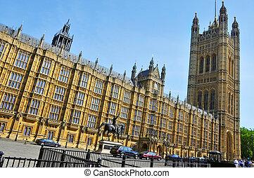 westminster, reino, unido, palacio, londres