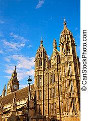 Westminster tower near Big Ben in London