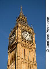 westminster, wieża, zegar