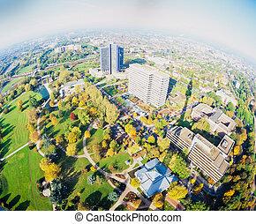 Westphalia Park Florian tower Dortmund Germany - Fall 1992, ...