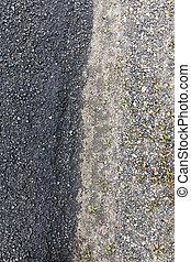 Wet asphalt road