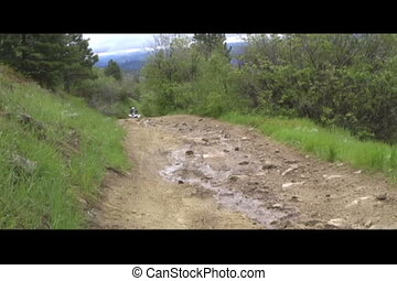 wet atv trail