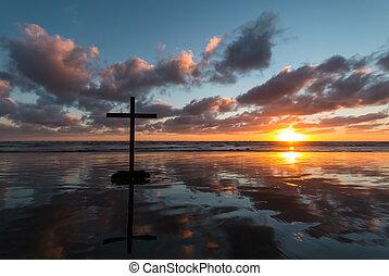 Wet Beach Cross