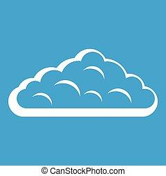 Wet cloud icon white