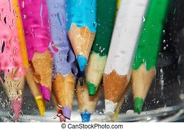 Wet color pencils