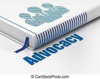 wet, concept:, boek, zakenlui, advocacy, op wit, achtergrond
