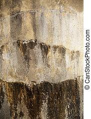 Wet Concrete Wall