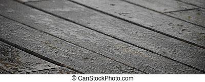 Wet deck wood