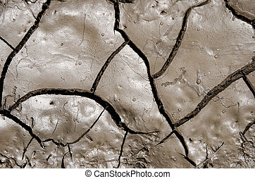 wet earth with cracks