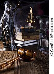 wet, en, justitie, concept