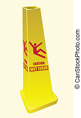 Wet Floor Sign - Caution