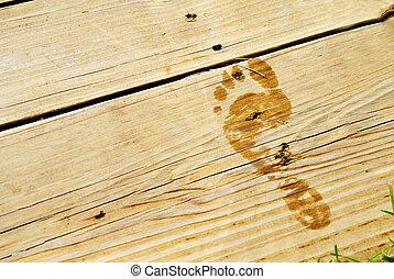 Wet Footprint on Deck