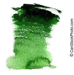 Wet green watercolor background