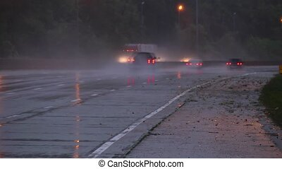 Wet highway time lapse