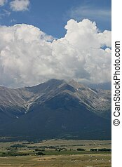 Wet Mountain Valley - A view of the Wet Mountains and the ...